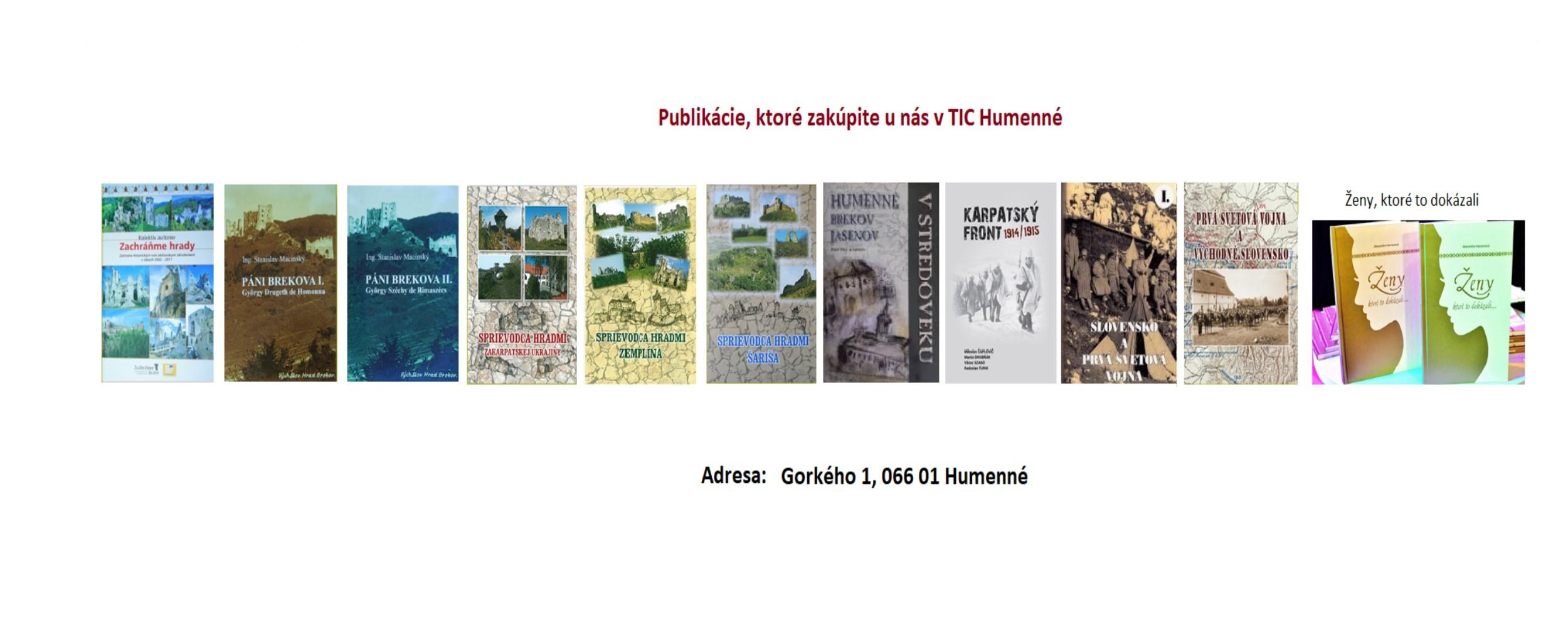 Knihy v TIC
